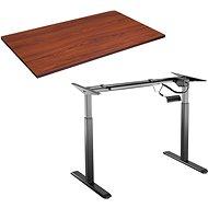 AlzaErgo Tisch ET2 schwarz + Tischplatte TTE-03 160x80cm braun furniert - Höhenverstellbarer Tisch