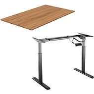AlzaErgo Tisch ET2 schwarz + Platte TTE-03 160x80cm Bambus - Höhenverstellbarer Tisch