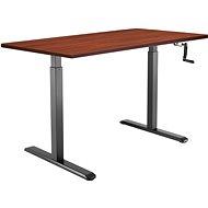 AlzaErgo Tisch ET3 schwarz + Tischplatte TTE-01 140x80cm braun furniert - Höhenverstellbarer Tisch