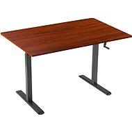 AlzaErgo Tisch ET3 schwarz +  Tischplatte TTE-03 160x80cm braunes Furnier - Tisch