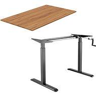 AlzaErgo Tisch ET3 schwarz + Platte TTE-03 160x80cm Bambus - Höhenverstellbarer Tisch