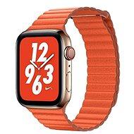 COTEetCI magnetisches Lederarmband Loop Band für Apple Watch 42 / 44mm orange - Armband
