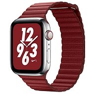 COTEetCI magnetisches Lederarmband Loop Band für Apple Watch 42 / 44mm rot - Armband