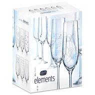 CRYSTALEX ELEMENTS Sektgläser 190 ml 6 Stück - Champagnergläser