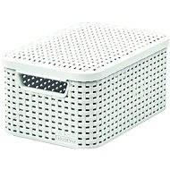 Curver Aufbewahrungsbox RATTAN Style2 mit Deckel S, weiß - Aufbewahrungsbox