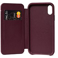 Decoded Leather Slim Wallet Purple iPhone XR - Silikon-Schutzhülle