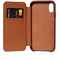 Decoded Leather Slim Wallet Brown iPhone XS Max - Silikon-Schutzhülle