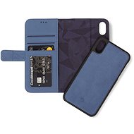 Decoded Leather 2in1 Wallet Blue iPhone XS Max - Handyhülle