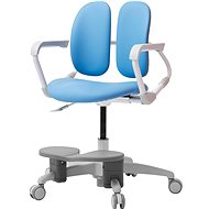 3DE Duorest Milky - Schreibtischstuhl für Kinder mit Fußstütze - blau - Kinderstuhl