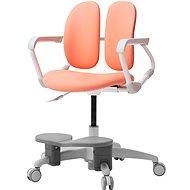 3DE Duorest Milky - Schreibtischstuhl für Kinder mit Fußstütze - lachsfarben - Kinderstuhl