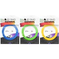 3DSimo Filament ABS - blau, grün, gelb 15m - Drucker-Filament