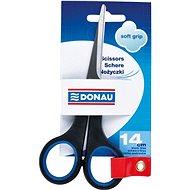 DONAU Soft Grip 14 cm schwarz/blau - Büroscheren