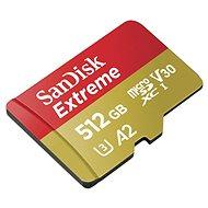 SanDisk MicroSDXC 512GB Extreme A2 UHS-I (V30) U3 + SD-Adapter - Speicherkarte