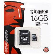 Kingston Micro SDHC 16GB Class 4 + SD Adapter - Speicherkarte