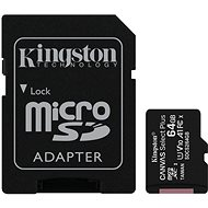Kingston Canvas Select Plus micro SDXC 64GB Class 10 UHS-I + SD Adapter - Speicherkarte