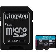MicroSDXC 64 GB + SD-Adapter von Kingston Canvas Go Plus - Speicherkarte
