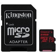 Kingston Canvas React MicroSDXC 64GB A1 UHS-I V30 + SD Adapter - Speicherkarte