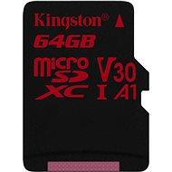 Kingston Canvas React MicroSDXC 64GB A1 UHS-I V30 - Speicherkarte