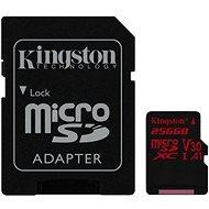 Kingston Canvas React MicroSDXC 256GB A1 UHS-I V30 U3 + SD Adapter - Speicherkarte