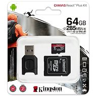 Kingston Canvas React MicroSDXC 64 GB + SD-Adapter und Kartenleser - Speicherkarte