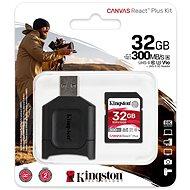 Kingston Canvas React Plus 32 GB SDHC + SD-Kartenadapter und Kartenleser - Speicherkarte