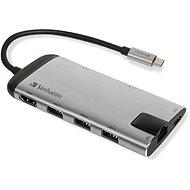 VERBATIM USB-C Multiport HUB USB 3.1 GEN 1 / 3 x USB 3.0 / HDMI / SDHC / microSDHC / RJ45 - Port-Replikator