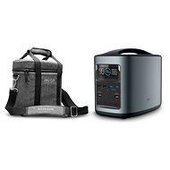 EcoFlow RIVER370 Portable Power Station Black + Element Proof Protective Case - Ladestation