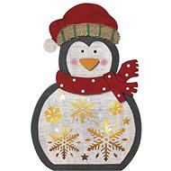 EMOS LED Weihnachtspinguin aus Holz, 30 cm, 2 × AAA, warmweiß, Timer - Weihnachtsbeleuchtung