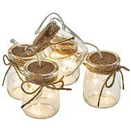 EMOS LED Weihnachtsgirlande - 5 × Brille, 3 × AA, warmweiß, Zeit. - Weihnachtsbeleuchtung