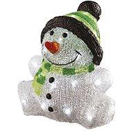 EMOS LED Weihnachtsschneemann, IP44, kaltweiß, Timer - Weihnachtsbeleuchtung