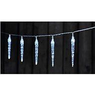 LED Weihnachtslichterkette - 10 x Eiszapfen - 2 x AA - kaltweiß - Timer - Weihnachtskette