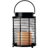 LED-Dekoration - Laternenlängsgitter, 3x AAA, blinkend, warmweiß - Weihnachtsbeleuchtung