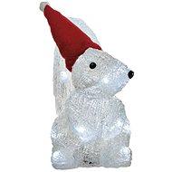 LED Weihnachtseichhörnchen, 22cm, 3x AA, kaltweiß, Timer - Weihnachtsbeleuchtung