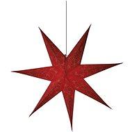 LED Weihnachtsstern Papier rot, 75cm, 2x AA, warmweiß - Weihnachtsbeleuchtung