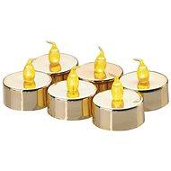 LED Dekoration - 6x Goldene Kerze, CR2032 6x - Weihnachtsbeleuchtung