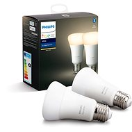 Philips Hue White 9.5W E27 set 2ks - LED-Birne