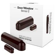 FIBARO Detektor Fenster- und Türsensor 2 braun - Tür- und Fenstersensor