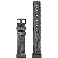 Fitbit Charge 3 Zubehör Band gewebt Holzkohle groß - Uhrband