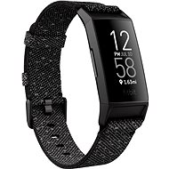 Fitbit Charge 4 Special Edition - Granite Reflective Woven/Schwarz - Fitness-Armband