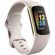 Fitbit Charge 5 Lunar White/Soft Gold Stainless Steel - Fitnesstracker