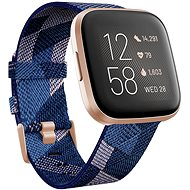 Fitbit Versa 2 Special Edition - Navy & Pink Woven - Smartwatch