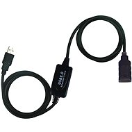PremiumCord USB 2.0 Repeater 10 m Verlängerung - Datenkabel