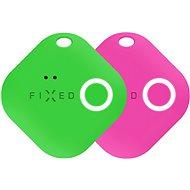 FIXED Smile Bluetooth-Tracker mit Bewegungssensor DOPPELPACK - Grün + Pink - Bluetooth-Chip-Lokalisierung