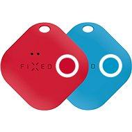 FIXED Smile Bluetooth-Tracker mit Bewegungssensor DOPPELPACK - Rot + Blau - Bluetooth Lokalisierungschip