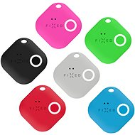 FIXED Smile Bluetooth-Tracker mit Bewegungssensor SECHSERPACK - Schwarz + Grau + Rot + Blau + Grün + Pink - Bluetooth-Chip-Lokalisierung