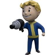 Fallout Vault Boy 3D - Energy Weapon - Schlüsselanhänger - Anhänger