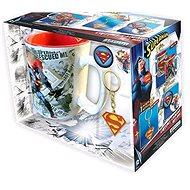 Superman Set - Tasse, Anhänger, 2x Abzeichen - Geschenkset