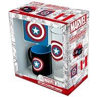Captain America Set - Becher, Tablett, Glas - Geschenkset