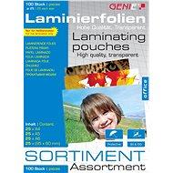 GENIE - Set A4, A5, A6, 95 mm x 60 mm 80 Mikron - 25 Stück - Laminierfolie