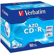 Verbatim CD-R DataLifePLUS Crystal AZO 52x, 10 Stück Packung